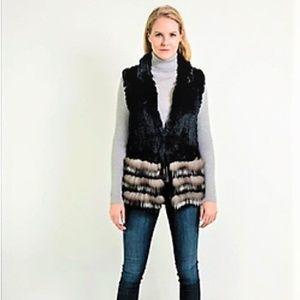 Jackets & Blazers - Black/Multi  REAL FUR Vest